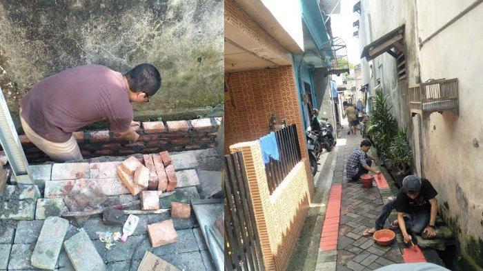 Cegah Banjir Terjadi, Mahasiswa UKDC Surabaya Perbaiki Saluran Pembuangan di Bratang Lapangan