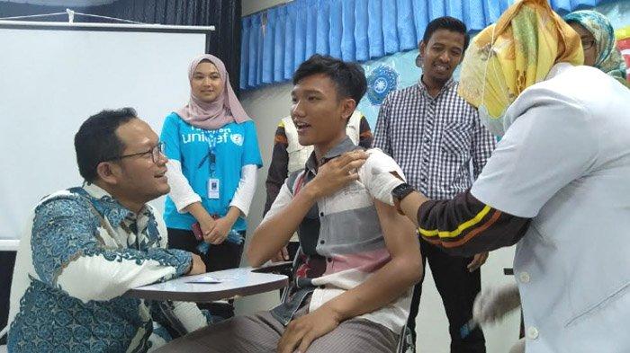 Mahasiswa Universitas Trunojoyo Madura Diimunisasi, Cegah Jatim kembali KLB Difteri
