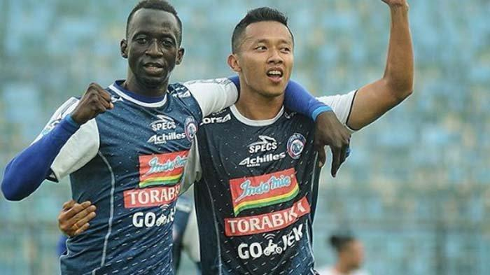 Arema FC Vs Badak Lampung: Singo Edan Unggul 2-1 lewat Gol Makan Konate hingga Menit Ke-35