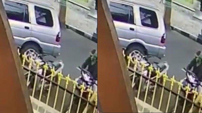 Terekam CCTV, Motor Milik Tukang Parkir Lapas Lumajang Hilang Digasak Maling