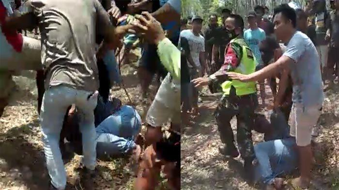 Tertangkap Colong Sepeda Motor di Sugio Lamongan, Warga Lakarsantri Surabaya Babak Belur Dimassa