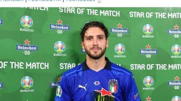 Manuel Locatelli dinobatkan sebagai man off the match saat laga Timnas Italia vs Swiss pada Piala Eropa atau EURO 2020. Ia menjadi rebutan AC Milan dan Juventus di Serie A Liga Italia musim ini