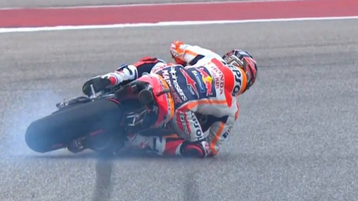 Hasil Kualifikasi MotoGP Valencia, Marc Marquez Terjatuh Parah dan Valentino Rossi Terseok