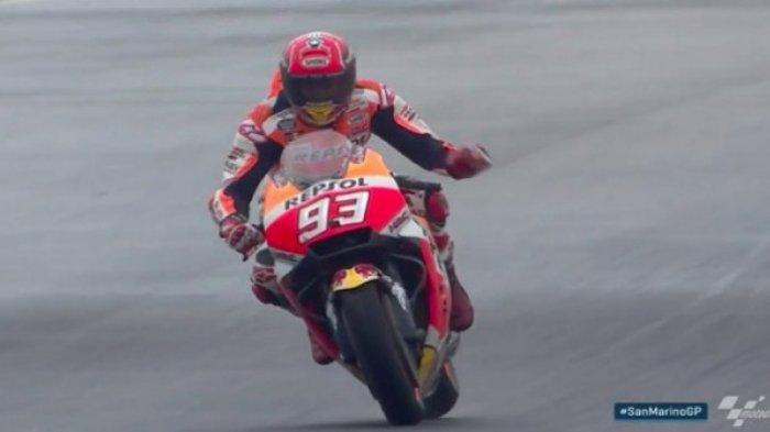 Hasil MotoGP San Marino - Drama Serangan di Tikungan Akhir Antar Kemenangan Marc Marquez