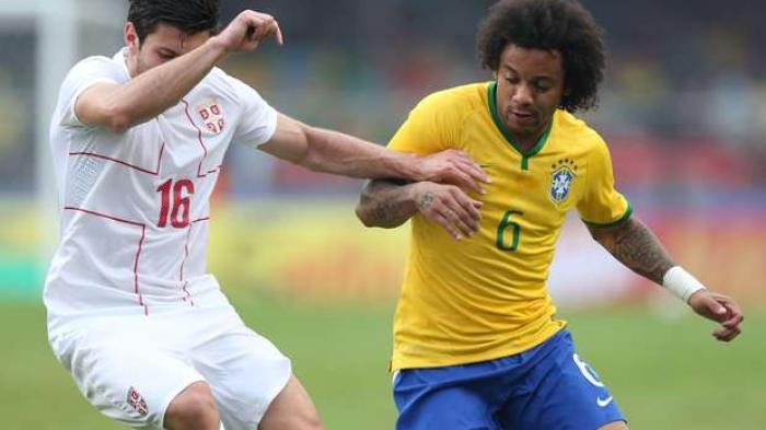 Susunan Pemain Brasil Vs Meksiko, Marcelo Cedera Digantikan  Felipe Luis