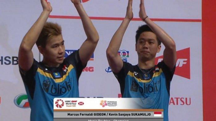 Hasil Lengkap Final Malaysia Masters 2019 - Marcus/Kevin Selamatkan Wajah Indonesia Setelah Juara