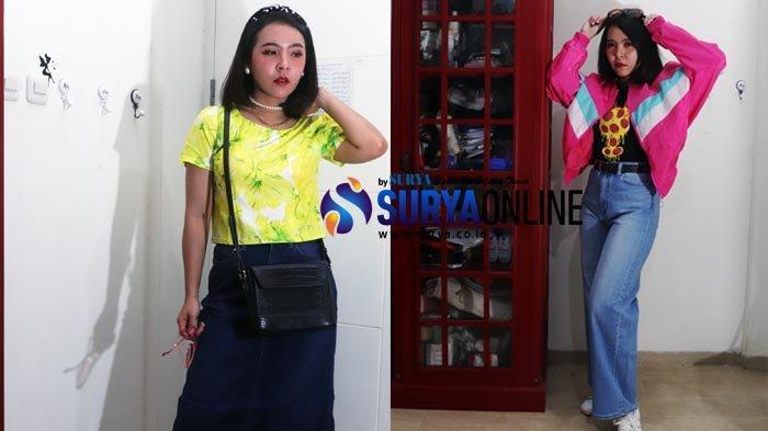 Tampil Kece Fashion Vintage 80'an dengan Outfit Crop Tee dan Rok A-Line Ala Marissa Santosa