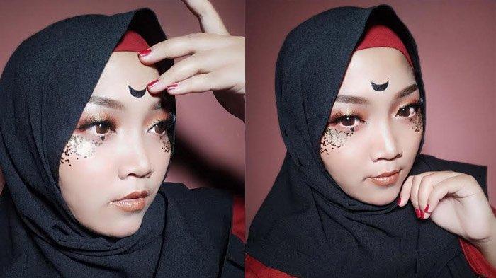 Kreasi Make Up Ramadan di Rumah Saja, MUA Maulina Dian Tonjolkan Mata Bertabur Bintang