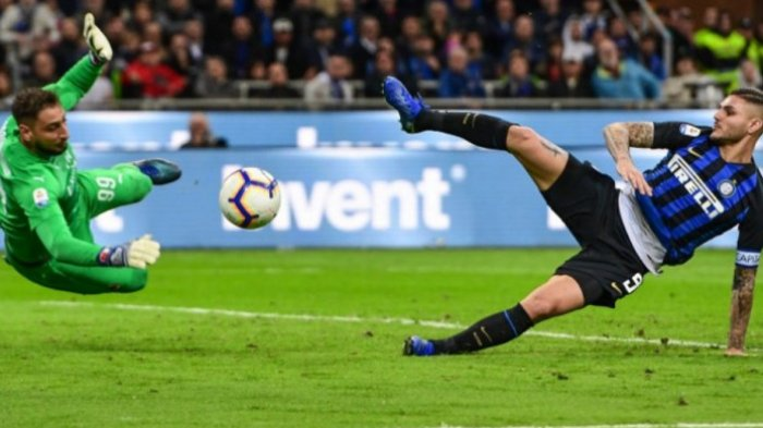 Hasil Liga Italia - Mauro Icardi Jadi Pahlawan Inter Milan saat Taklukan AC Milan 1-0