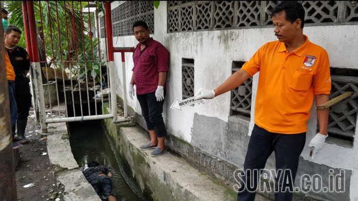 Mayat Pria Tak Dikenal Ditemukan Tengkurap di Selokan Jalan Ngagel Surabaya, Ini Ciri-cirinya