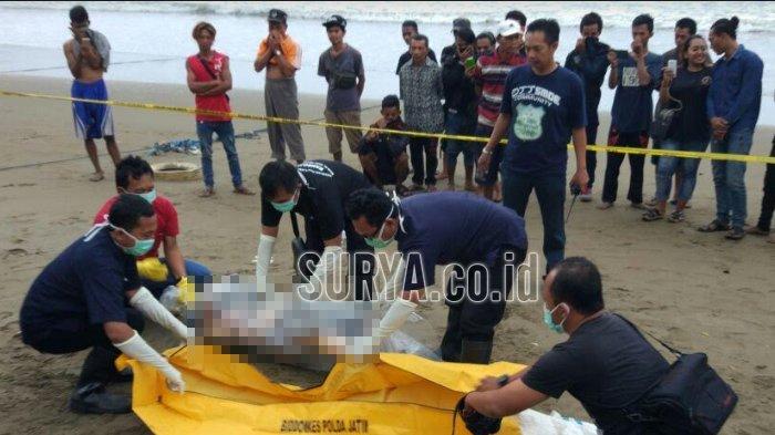 Geger Temuan Mayat Pria di Hamparan Pasir Pantai Gemah Tulungagung, Kondisinya Mengenaskan