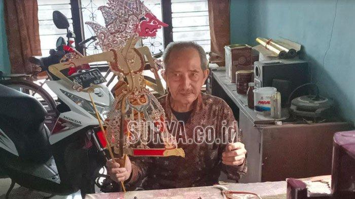Kisah Perajin Wayang Kulit Asal Plosoklaten Kabupaten Kediri, Tetap dapat Pesanan saat Pandemi