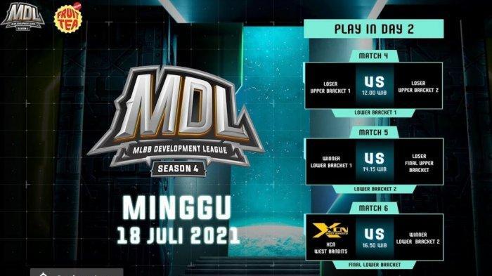 Jadwal MDL Season 4 Hari Ini, Minggu 18 Juli 2021: Empat Tim Berebut Tiket Terakhir