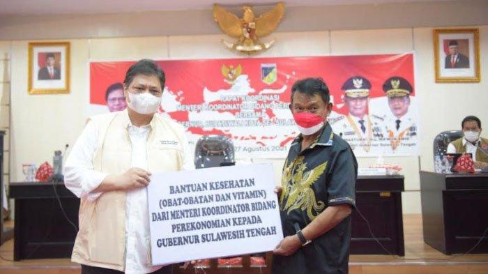 Menko Airlangga Tekankan Penurunan BOR dan Akselerasi Vaksinasi di Sulawesi Tengah