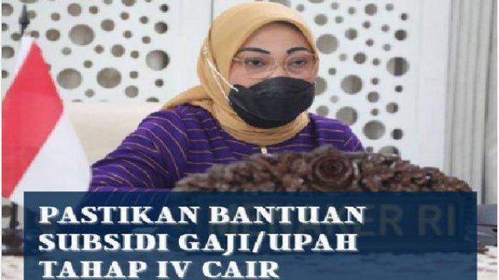 Menteri Ketenagakerjaan Ida Fauziyah memberi pengumuman soal BLT karyawan tahap 4