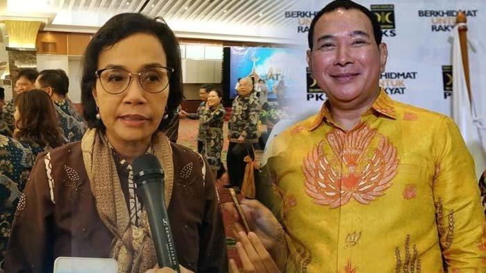 Menteri Keuangan Sri Mulyani Indrawati dan Tommy Soeharto.