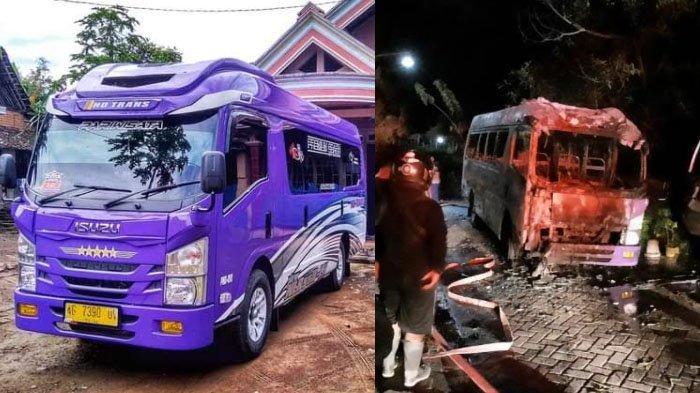Mobil Elf di Kabupaten Ponorogo Hangus Terbakar, Bermula dari Lampu Disko yang Bermasalah