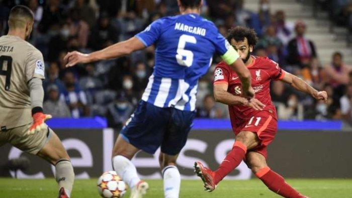 Mo Salah berhasil cetak dua gol lawan FC Porto di Liga Champions