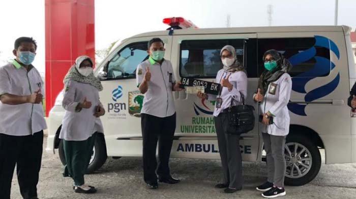 PGN Serahkan Bantuan Mobil Ambulans kepada RS Universitas Andalas Kota Padang Sumbar