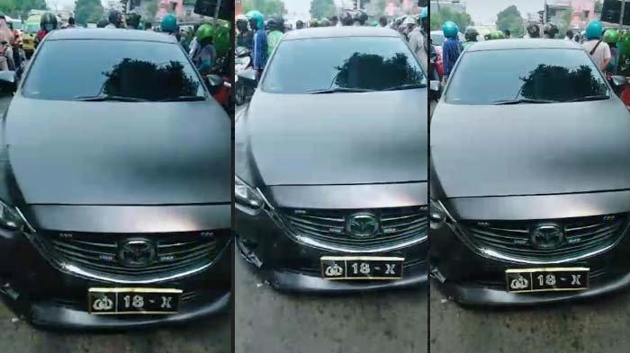 Mobil Berpelat Dinas Polisi Terlibat Kecelakaan dengan Motor di Surabaya, Videonya Viral di Medsos
