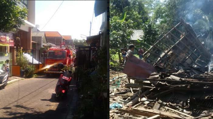 Sehari Tiga Kebakaran di Kabupaten Malang, di Kecamatan Dampit Pom Mini Terbakar