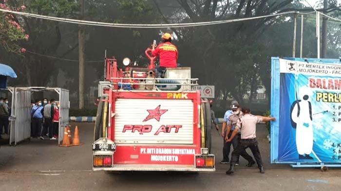 Terungkap Dugaan Penyebab Kebakaran di Pabrik Tekstil PT Mertex Mojokerto