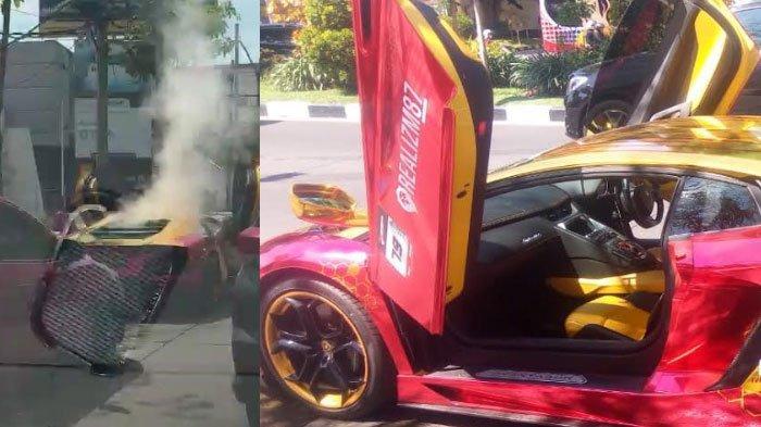 Mobil Lamborghini di Surabaya Terbakar, Penumpangnya Seorang Perempuan Selamat, ini Penyebabnya