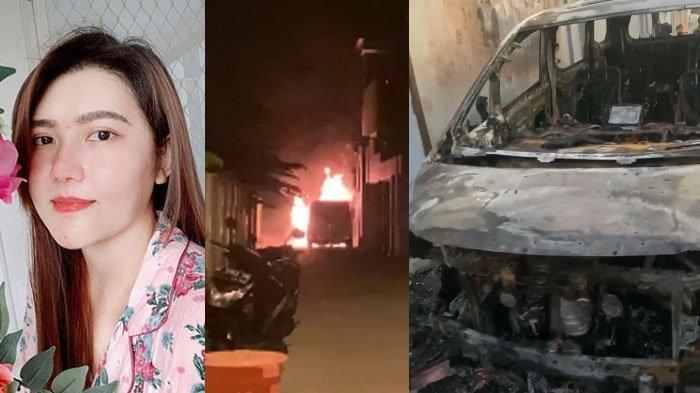 Detik-detik Mobil Alphard Via Vallen Dibakar Orang di Sidoarjo, Ledakan Buat Panik, Pelaku Ditangkap