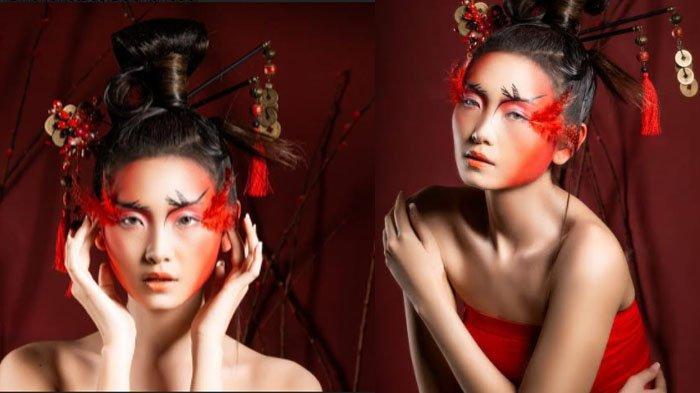 Editorial Chinese New Year Look ala MUA Rona Tjandra: Mengusung Kerbau, Burung Crane, dan Ayam Jago