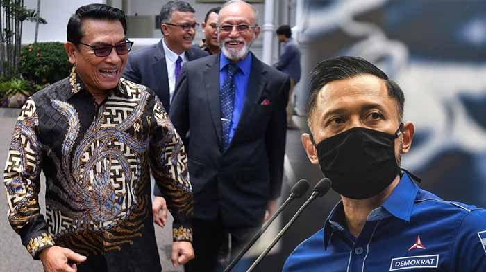 Ketua Umum Demokrat versi KLB Deli Serdang, Moeldoko dan Ketua Umum Demokrat versi kongres Jakarta, Agus Harimurti Yudhoyono (AHY).