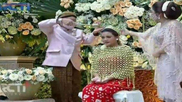 Momen haru Aurel cium kaki Anang Hermansyah di acara siraman Jumat (19/3/2021)