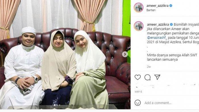 Momen pertemuan Ameer Azzikra dan calon istri