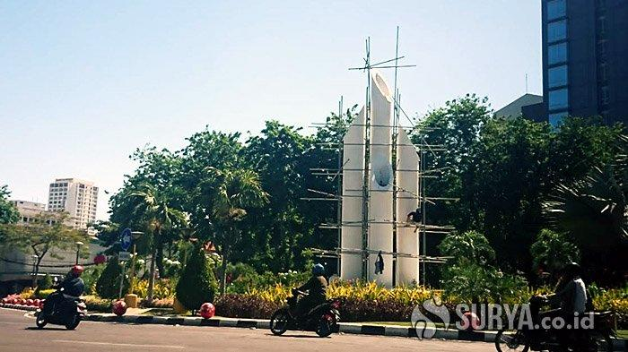 Jelang Hari Pahlawan, Monumen Bambu Runcing Surabaya Kian Dipercantik, Bakal Dilengkapi Kabut