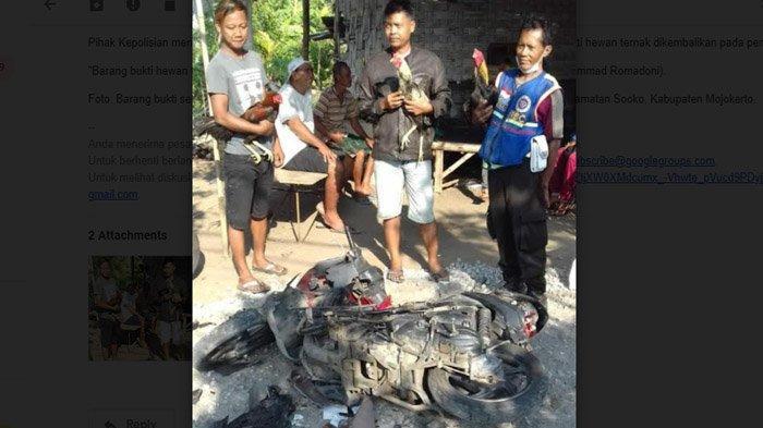 Tangkap Pencuri Ayam, Warga Mojokerto Gagal Hancurkan Motor Milik Pelaku