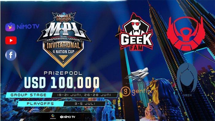 Link Live Streaming MPL Invitational 4 Nation Cup, Minggu 28 Juni: BTR vs Aerowolf Jam 17.00 WIB