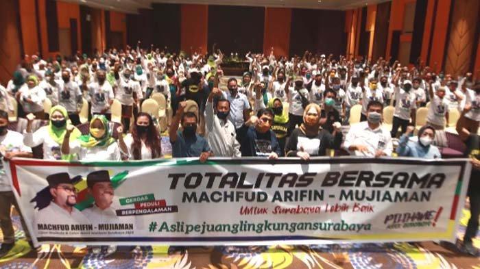 Pilwali Surabaya 2020: Machfud Arifin-Mujiaman Peduli Kesejahteraan Kader Lingkungan