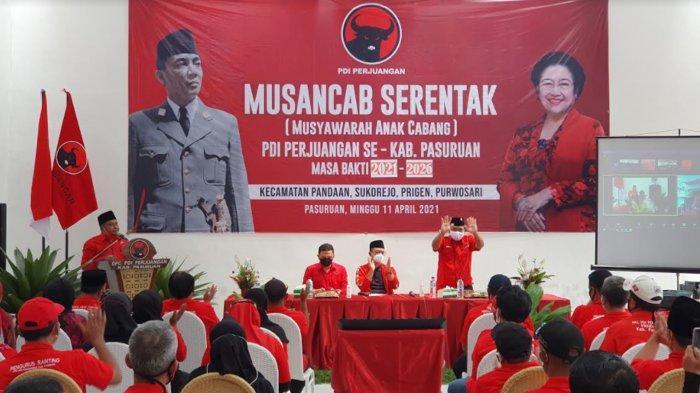 Buka Musancab, WK BK PDIP Jatim Puji Kepemimpinan Ketua DPC PDIP Pasuruan Andri Wahyudi