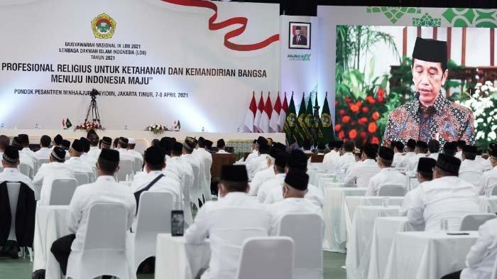 Buka Munas IX LDII, Presiden Jokowi Ajak Ormas Islam Moderasi dalam Beragama