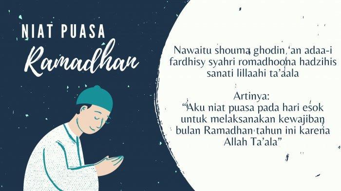 Bacaan Niat Puasa Ramadhan, Doa Sahur dan Buka Puasa Lengkap Tulisan Arab, Latin dan Artinya