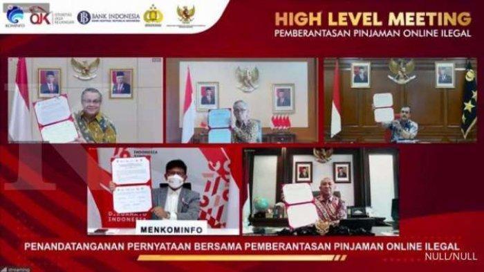 Pernyataan Bersama OJK dan 4 Lembaga Negara Berantas Pinjol Ilegal