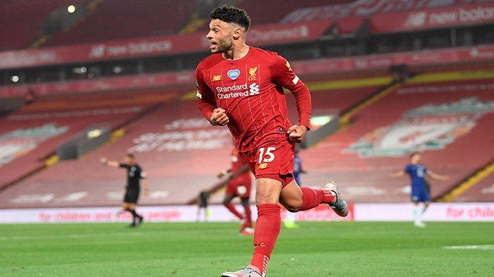 Oxlade Chamberlain gol yang membuat skor akhir 5-3 untuk keunggulan Liverpool