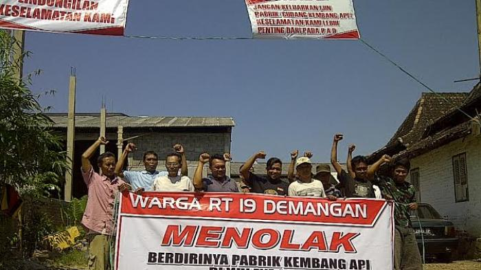 Pabrik Kembang Api Beroperasi di Madiun Ditentang Warga