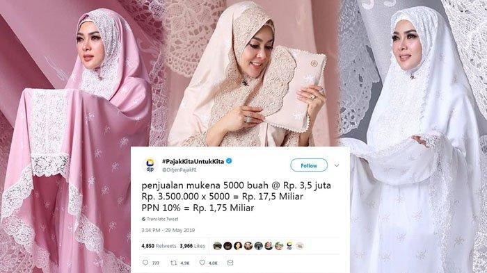 Ditjen Pajak RI Sindir Syahrini di Twitter, Istri Reino Barack Harus Bayar Pajak Miliaran Rupiah