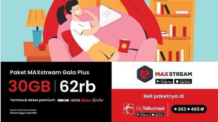 Paket Internet Murah Telkomsel MAXstream 30 GB Cuma Rp 62 Ribu, Bisa Nonton Film Sepuasnya di Rumah