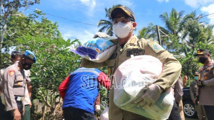 PPKM Darurat, Pemkab Trenggalek Salurkan 418 Bantuan Sembako untuk Keluarga Isolasi Mandiri