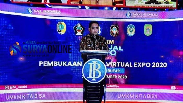 Hadiri Pameran Virtual UMKM, PJs Wali Kota Jumadi Harap UMKM Kota Blitar Bisa Jadi Eksportir Mandiri