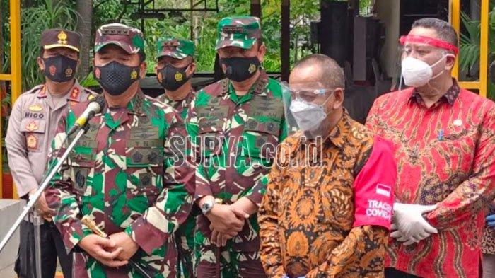 Panglima TNI Kunjungi Kota Surabaya, Tinjau Langsung Penerapan PPKM Mikro di Kampung Tangguh