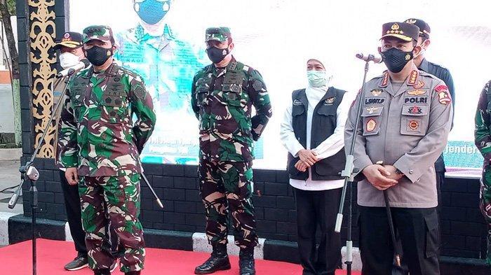 Dukung Upaya Bupati Lamongan Lawan Covid-19, Panglima TNI dan Kapolri Ingatkan Prokes Jangan Melemah