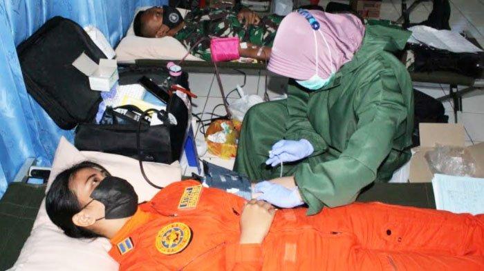 Momentum HUT Ke-52, Sekolah Penerbangan TNI AL (Senerbal) Gelar Donor Plasma Konvalesen