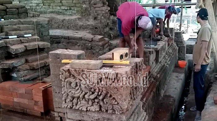 Update Pemugaran Candi Mirigambar Kabupaten Tulungagung, Batu Bata Mulai Ditata Lagi